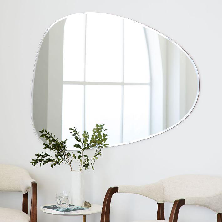 West Elm Frameless Asymmetrical Wall Mirror( $199 )($149)