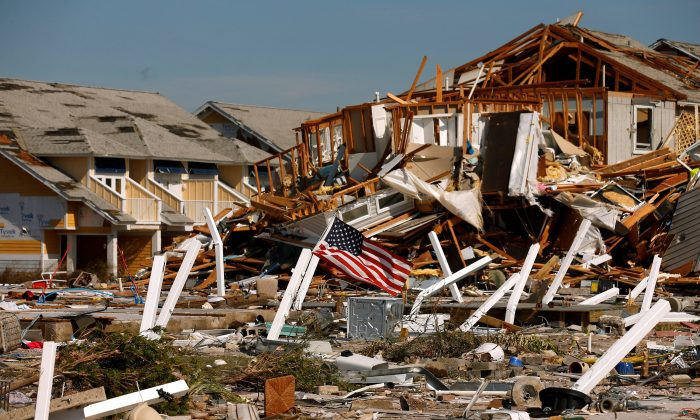 Some of the aftermath of Hurricane Michael on Florida Panhandle - photo credit Reuters/Jonathan Bachman
