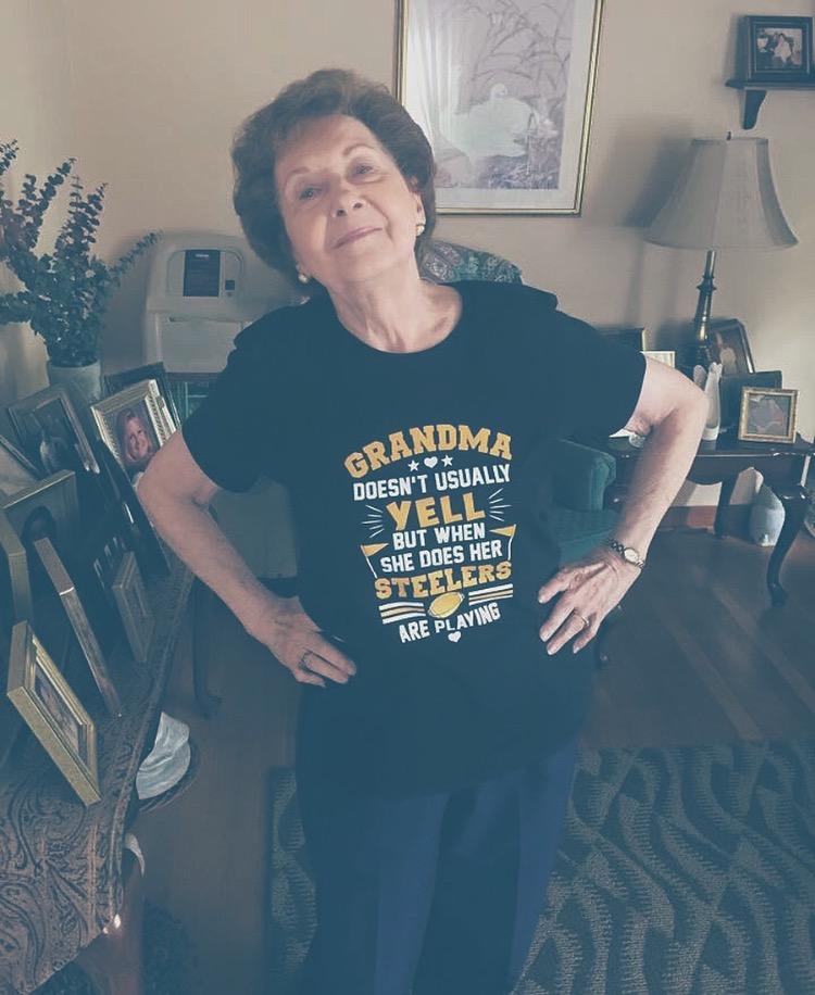 Grandma Shock Supporting her Steelers!