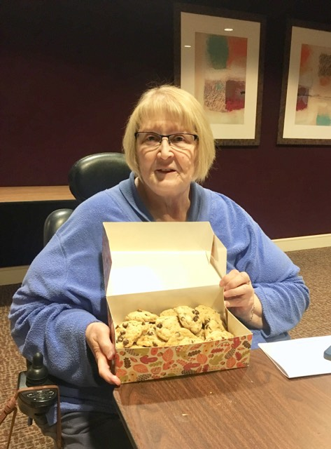Lynn with the magical cookies!