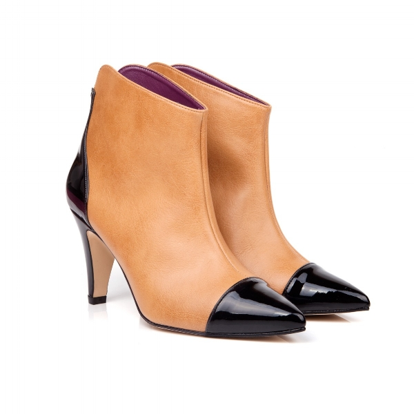 Beyond Skin Colleen Camel Vegan Ankle Boots £155