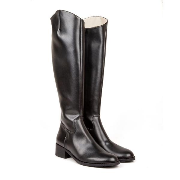 Beyond Skin Jane Black Flat Riding Vegan Boots £165