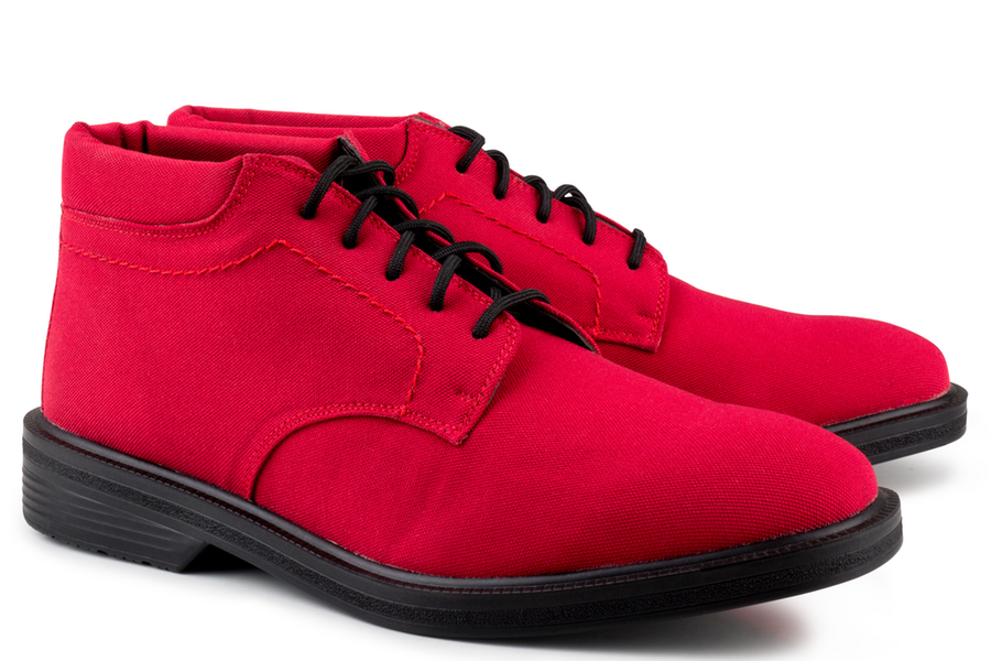 Eco Vegan Shoes London Walker Boot £128 - This trendy desert boot comes in a variety of bright hues, including red and lime green, but if you prefer to stick to subdued colours, black, grey and brown are also available.