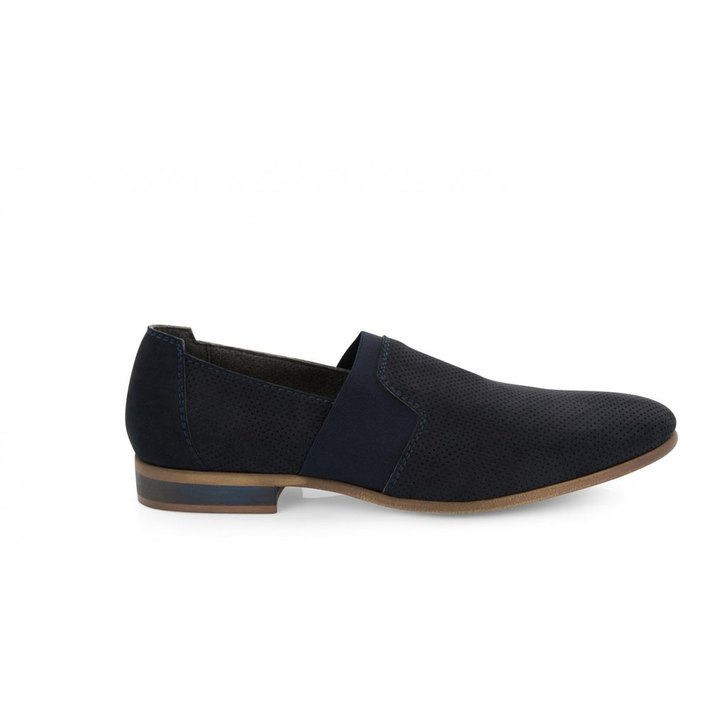 Noah Francesco Slip On £140 - Made with vegan micro suede, these slip-ons are comfortable whilst being dressy. They come in blue and cognac brown.