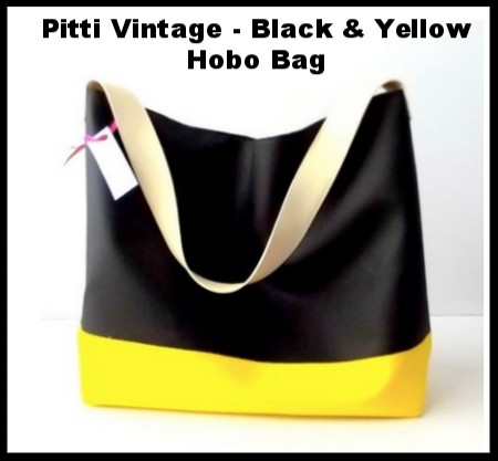 Pitti Vintage - Black and Yellow Hobo Bag
