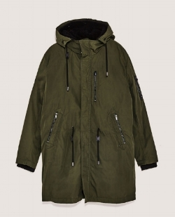 Zara Men Fleecy Parka £119 - This practical parka is ideal for everyday wear and is 100% polyester