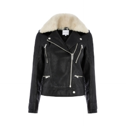 Warehouse Women Faux Leather Jacket £66 - I'm a sucker for a good biker jacket and this one by Warehouse made with polyester and viscose, is one of the coolest around this season