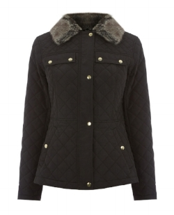 Oasis Quilted Jacket £79 - This casual, warm quilted jacket is ideal to wear during the day and for going on beautiful autumnal walks. Made with faux fur, polyester and acrylic