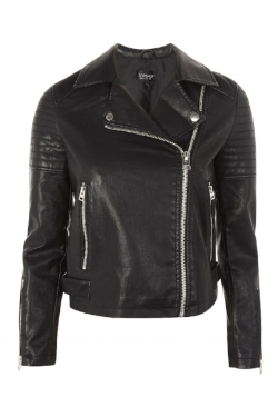 Topshop Woman Faux Leather Biker Jacket £49 - A classic biker jacket made with 100% Polyurethane