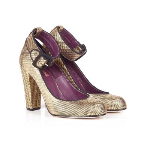 Beyond Skin Belle Gold and Black Heels £149 -