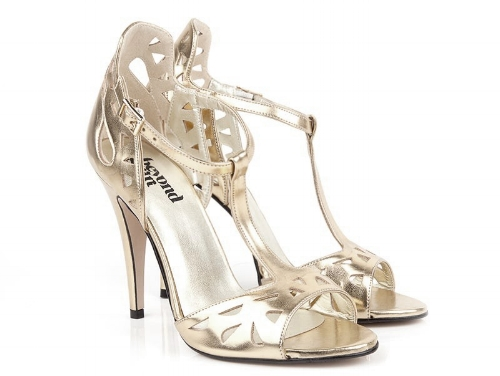 Beyond Skin Lily Gold Stiletto Sandals £155 -