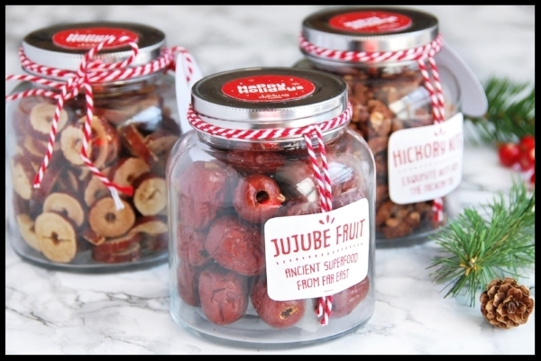 Abakus Jujube Fruit Jar - Pretty and festive jars full of delicious jujube fruit perfect for the foodie. Choose between plain, stuffed with nuts, or our favourite, crispy jujube. A tasty stocking filler. £12.99. Buy now.
