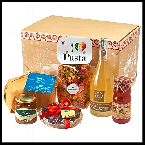 Vegan Italian Christmas Hamper - Christmas is all about food and who wouldn't love to receive a hamper full of festive vegan treats? This contains vegan prosecco, vegan panettone, chocolate fig bites, porcini mushroom pasta, Sicilian aubergine caponata, and five colour pasta flavoured with spinach, turmeric and beetroot. £85. Buy now.