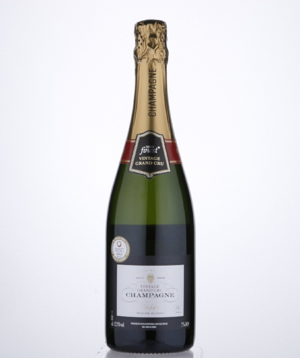 Tesco Finest Vintage Champagne Grand Cru - This lively award winning champagne has notes of citrus and makes for an elegant aperitif. £150 per case. Buy now.