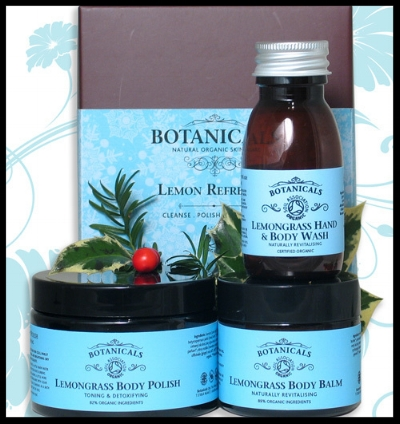 Botanicals Lemon Refresher Gift Set - This beautifully presented gift set contains lemongrass body wash, lemongrass body polish and lemongrass body balm. Ideal for the bathing beauty. £45. Buy now.