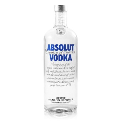 Absolut Vodka - Vodka is crowd pleaser,a very versatile spirit that can be enjoyed in many cocktails. £20. Buy now.