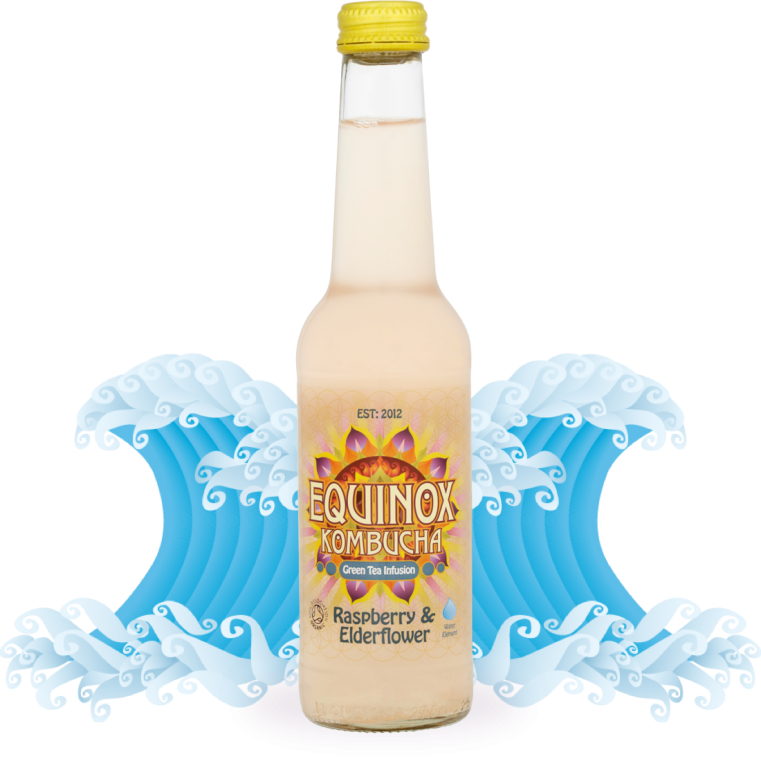 Equinox Kombucha - If cutting down on fizzy drinks is one of your New Year's resolutions Kombucha is a fantastic alternative. Kombucha is a fermented drink made from green tea, raw cane sugar and special Kombucha culture with a gentle fizz that is rich in friendly bacteria that promotes gut health.