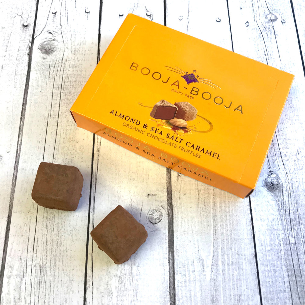 Booja Booja Almond & Sea Salt Caramel Truffles - Booja Booja have been turning out great tasting vegan truffles for the best part of two decades and have been a regular go to for gifts and treats for many vegans so it will come as no surprise that they are featured on our wall of romantic February food. The Almond & Sea Salt Caramel truffles are my absolute favourite as caramel is still quite a novel flavour to me and I love how the salt complicates everything (in a good way). For those trying to cut down on cane sugar the Rasberry and Dark Equadorian truffles are made with Agave syrup.