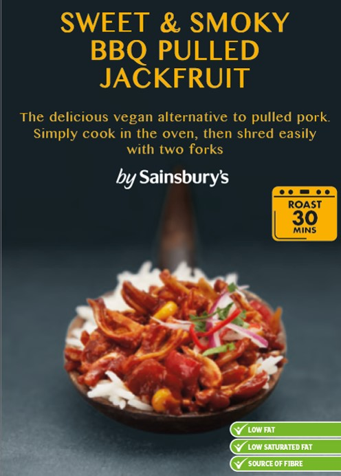 Sainsbury's Sweet & Smoky BBQ Pulled Jackfruit - Finding fun and tasty ready made meals that are vegan can be a tough task so I was pretty excited to come across this BBQ jackfruit in Sainsbury's. It only takes 30mins to cook and the texture is great (providing that you don't over cook it!) but it has received the supermarket treatment and there is something of the tinned spaghetti flavour about the tomato base.While this meal didn't completely float my boat it is a handy one to have in the fridge when you've got a lot on and are too/busy tired to cook.