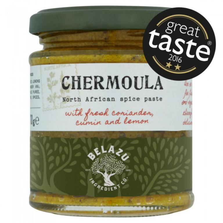 BelazuChermoula Paste - This is a great jar of delicousness to have handy in the pantry and is super layered under melted vegan cheese on toast. The north African flavours of lemons, cumin and coriander are fresh and intense and will lend a depth and complexity to whatever dish you decide to add it to. Once you get the taste for this warming paste you will wonder how you did without it!