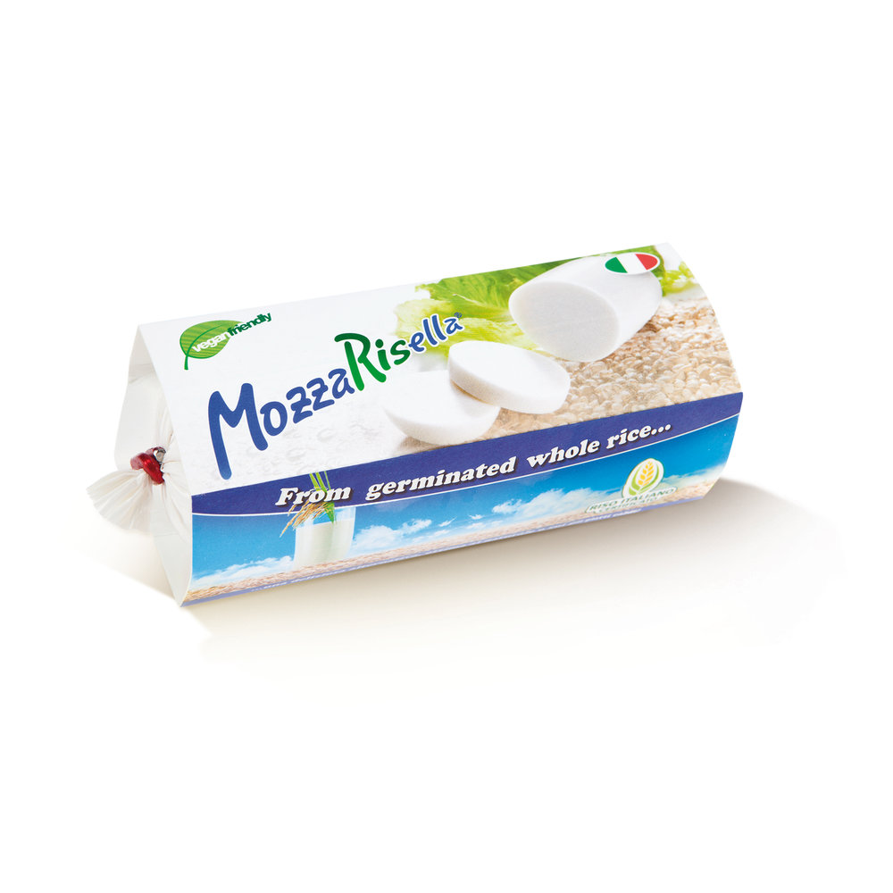 MozzaRisella  - This vegan Mozzarella is a bit of a revelation! It is rice based and pretty freakin' delicious. For those who find non-dairy cheeses a little rubbery in texture this is definitely one to try as it is soft and creamy with a pleasing subtle flavour. It melts marvelously and is perfect on pizza