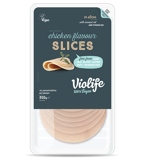 Violife Chicken Slices - These chicken flavoured slices are for level 7 vegans only as they are way weird but strangely addictive. The texture of processed cheese with the flavour of processed chicken these slices may be one step too far for most. Melt the slices on toast and the grossness goes and the tasty remains. Don't try these if you are new to vegan substitutes. Do try these if you are vegan AF and can't get enough of plant-based weirdness.