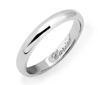 Clogau Windsor Wedding Ring - With Welsh white gold.£490