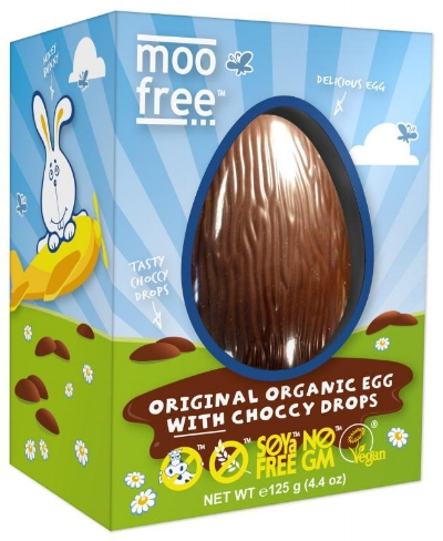 For the 'Milk' Chocolate Lovers: Moo Free Organic Dairy Free Milk Chocolate Easter Egg with Pack of Buttons  - These fun and affordable eggs are perfect for kids and those who like the milk chocolate experience. They can be found in most supermarkets and come in a delicious selection of flavours including chocolate orange and chocolate bunnycomb (one of my favourites). They also include chocolate drops which are a fun added bonus. £4.59
