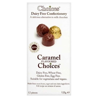 Choices - Chocolate Caramels - Watch out, these little fellas are pretty more-ish! Wrapped in gold foil, they are perfect for popping into your Easter assortment. The chocolate is very 'milky' and the caramel filling is gooey and totally delicious. Eat too many of these and your teeth will begin to hurt but even that won't stop you from reaching for 'just one more'. Readily available from supermarkets such as Sainsbury's as well as online at Amazon, these are maybe a little too easy to get ahold of...