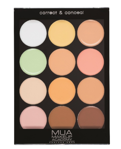 MUA Professional Correct & Conceal Light Palette - Girls and guys, I am seriously all over this. This Correct and Conceal palette comes in 12 shades that can be used on their own or blended together. I use concealer very sparingly as I find that it often sits in fine lines and doesn't do much else, but the peach in this palette offset the dark circles under my eyes like no other and the green completely neutralised a red patch I had on my cheek. A seriously excellent product which comes with lots of shades and at £6, is affordable too.
