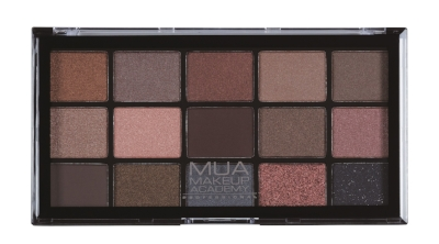 MUA 15 Shade Palette Spiced Charm - 15 gorgeous, pigment packed, matte, shimmer and satin shadows, that will take you from day to night. Use on their own, blend together, apply wet or dry for a dramatic or more natural look. £5.