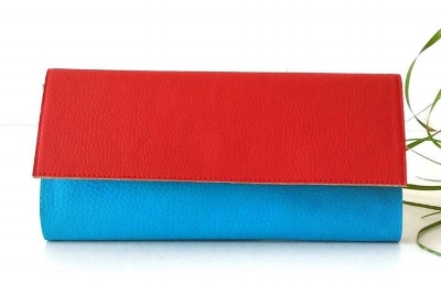 Pitti Vintage Red and Turquoise Wallet - A gorgeous colour combination for Spring. £45.60