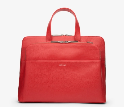 Matt & Nat Dwell Cassidy Bag in Ruby - A stylish office to bar handbag in a beautiful red shade to brighten up the day. £125