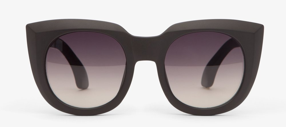 Matt & Nat Sava Black Sunglasses - Bold black frames, polarised lenses and UV protection. £48