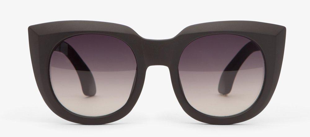 Matt & Nat Sava Black Sunglasses - Bold black frames, polarised lenses and UV protection. £48