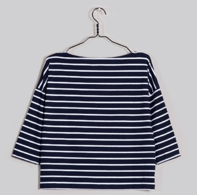 Know The Origin Kady Breton Tee - A Spring/Summer staple, this square cut boat neck Breton top is 95% organic cotton and 5% spandex and its label tells you who the lovely people who made this gorgeous tee are. £30