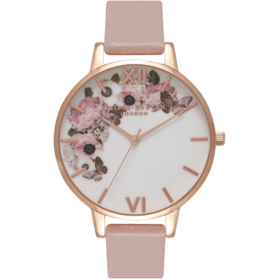 Olivia Burton Vegan Friendly Floral Print Watch - Spring in a watch! We are swooning over this pretty vegan leather strap watch by Olivia Burton - perfect to brighten up any day. £82