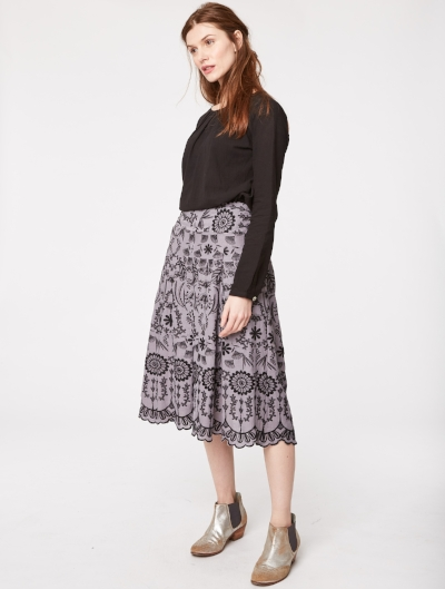 Thought Isabella Embroidered Hemp Skirt - Made of 55% hemp and 45% organic cotton, this skirt can be dressed down with a simple monochrome tee or dressed up with a blouse and heels. £45 down from £89.90.