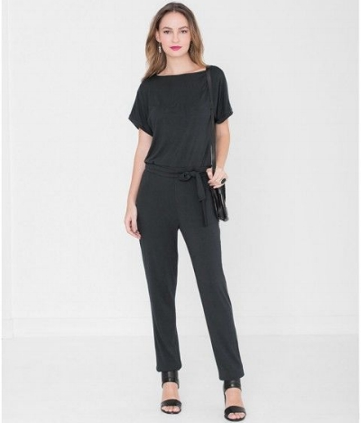 Miss Green Sylvia Jumpsuit - Made from supersoft MicroModal jersey this jumpsuit is a fab wardrobe staple that works well with trainers and heels. Add a piece of statement jewellery for a chic look. £105.78