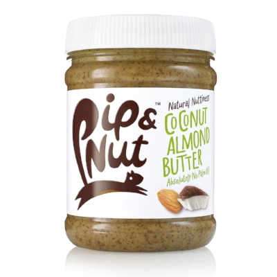 Pip  & Nut Coconut Almond Butter - Spread it on toast, use it in a sauce or add it to a smoothie or a cake for extra flavour and protein. This coconut and almond butter is as versatile as it's delicious, with a good nutty taste and a slight sweetness thanks to the added agave syrup. If you are avoiding any kind of sugar, try the plain almond or peanut butter instead. £3.75