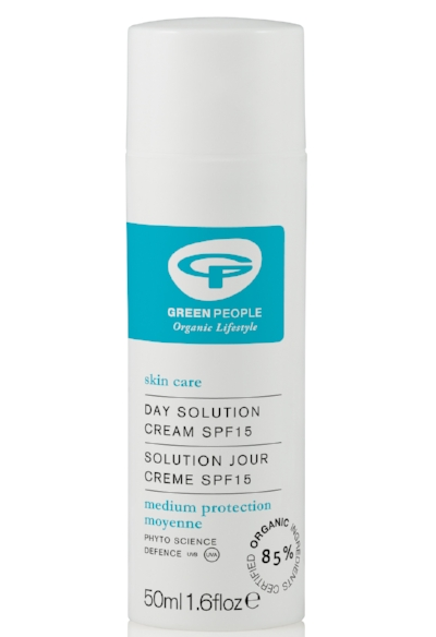 Green People Day Solution Cream SPF15 - With aloe vera, hemp, jojoba, green tea and chamomile, this day moisturiser with added SPF is highly hydrating and easily absorbed. It really does a great job at replenishing moisture and the pump container makes it perfect to take travelling. Pair it with Green People Beauty Boost Skin Restore, which you can use at night, for seriously soft, plump and hydrated skin. £20