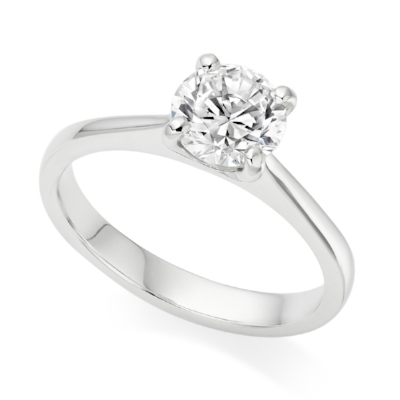 Made Diamonds The Augusta Engagement Ring - Round, brilliant cut ethically sourced diamond and a solid and bold band. From £1,025
