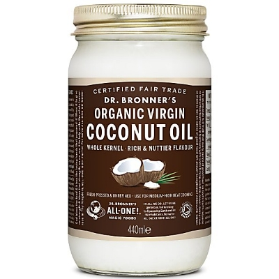Dr Bronner's Organic Virgin Coconut Oil - Dr. Bronner might be better known for its castile soap, but its first food product, this cold pressed whole kernel organic virgin coconut oil is such as winner, it will change how you see the brand. Its delicious, coconuty flavour makes it a great addition to any marinades, dressings and sauces and its 350 degree F smoking point, make it a great option for mid temperature cooking. As with all coconut oil, this will also make a fantastic moisturiser or makeup remover. £8.99