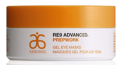 Arbonne RE9 Advanced Prepwork Gel Masks - Drenched in niacinamide, apple, strawberry, blueberry and raspberry extracts, these eye gel masks refresh, moisturise and de-puff the delicate eye area. Apply morning and night as needed (or before going out) and leave on whilst you are getting ready for work or relaxing with a good book and see instant results. We love the brightening and tightening effect. £48