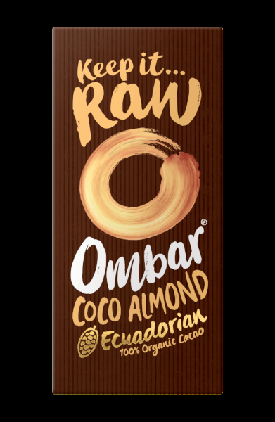 Ombar 72% Ecuadorian 100% Organic Cacao - For those who like their naughty treats to be as nice a possible, Ombar ticks all the boxes.Not only is it full of characterful cacao flavour, Ombar chocolate is also raw and packed with the naturally occurring nutrients found in the bean. This bar is no cheap corner shop affair and probably won't do for those looking for a sugary, processed, easy fix. It is, however, an excellent chocolate for those who love flavour and intricate notes.Ombar chocolate bars come in a variety of exciting flavours including Lemon & Green Tea, Coconut & Vanilla and Mandarin.