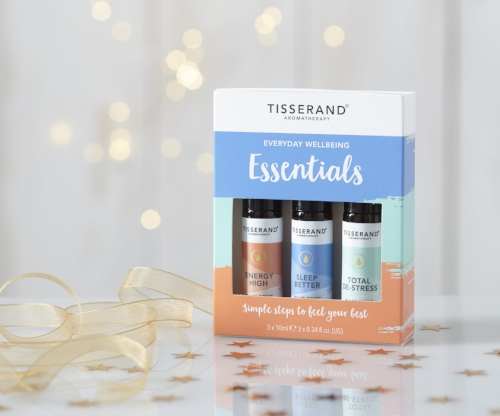 Tisserand Aromatherapy Everyday Wellbeing Essentials Roller Ball Kit - Three aromatherapy oils in handy roller balls to relax, energise and de-stress made with 100% natural essential oils. £11.95
