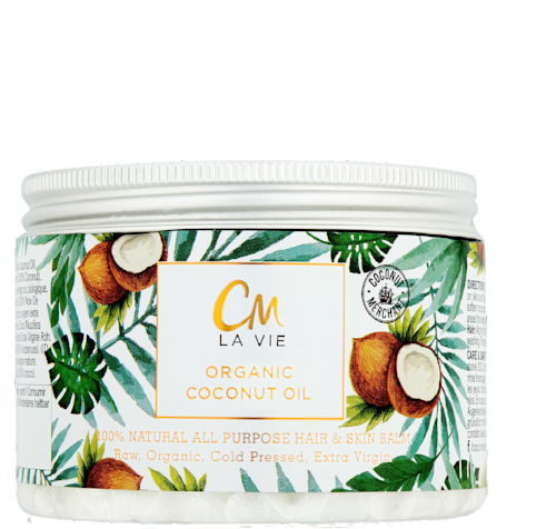 Coconut Merchant's CM La Vie Organic Coconut Oil Face and Hair Balm - Coconut oil is fantastic in your bathroom and kitchen cupboard as it has a multitude of uses. CM La Vie beauty oil by Coconut Merchant' is raw, cold pressed, extra virgin, ethically sourced, and ideal to use as a makeup remover, face and body moisturiser, shaving balm, and as a hair mask. £9.99