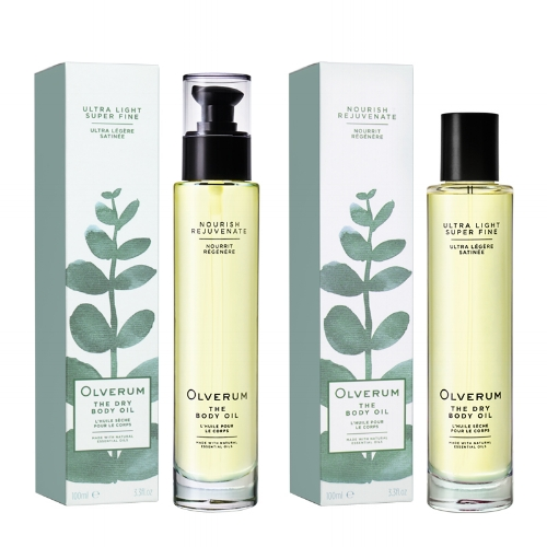 Olverum Body Oils - Gorgeously scented, beautifully packaged and of course fully vegan, Olverum body oils nourish, moisturise and add a beautiful sheen to the skin. Choose between The Body Oil (£40) or the Dry Body Oil (£36)