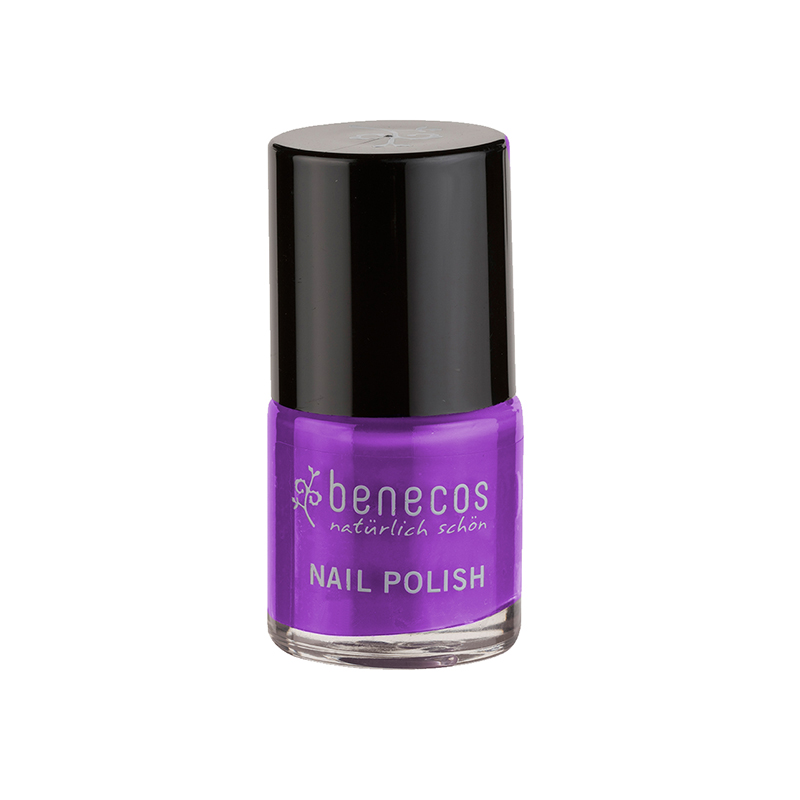 Benecos Nail Polish in Purple - Free from toxic chemicals, Benecos nail polishes are kinder to the nails, vegan of course, and they come in a huge variety of lovely colours, such as this bright purple one. £6.95