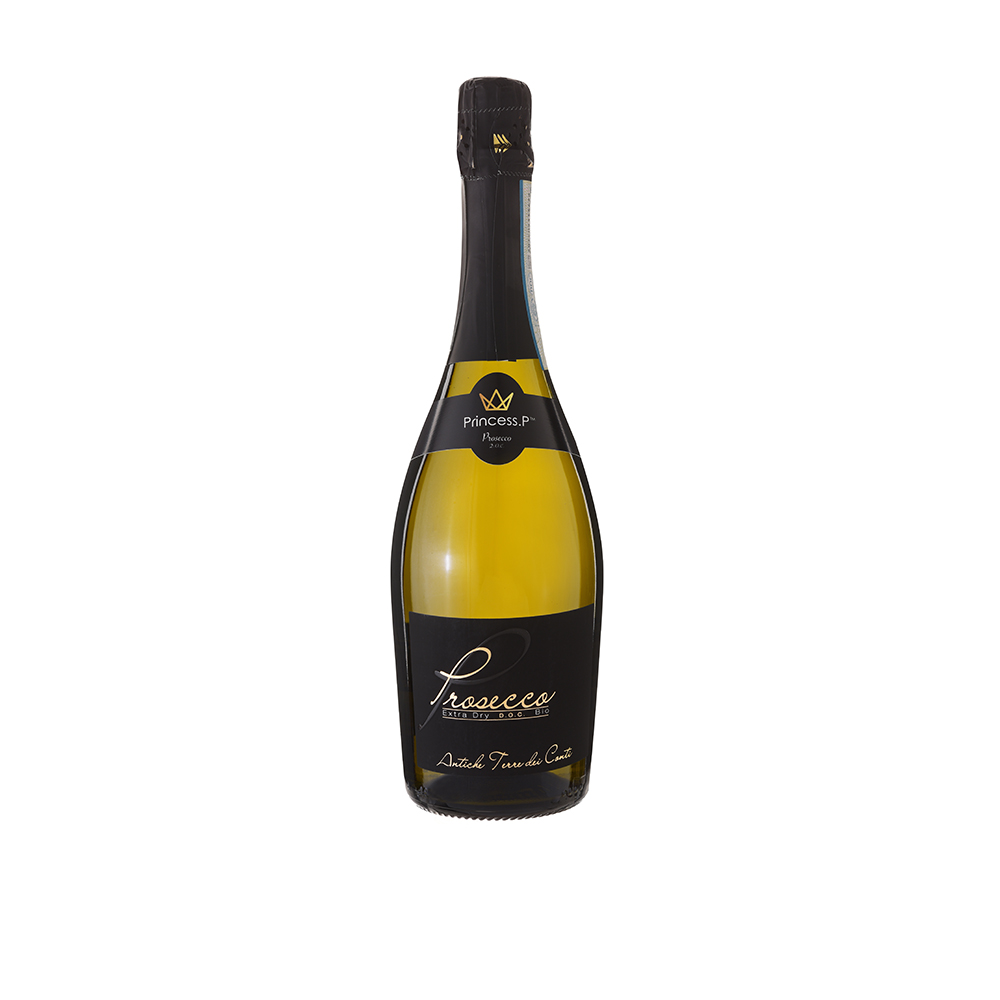 Princess Premium OrganicVegan Prosecco Black Label - Your bubbles loving friend or family member will love receiving a monthly subscription box containing one or two bottles of this premium vegan prosecco. Or you can choose to gift them a prosecco hamper instead. From £31 per month for 1 bottle.